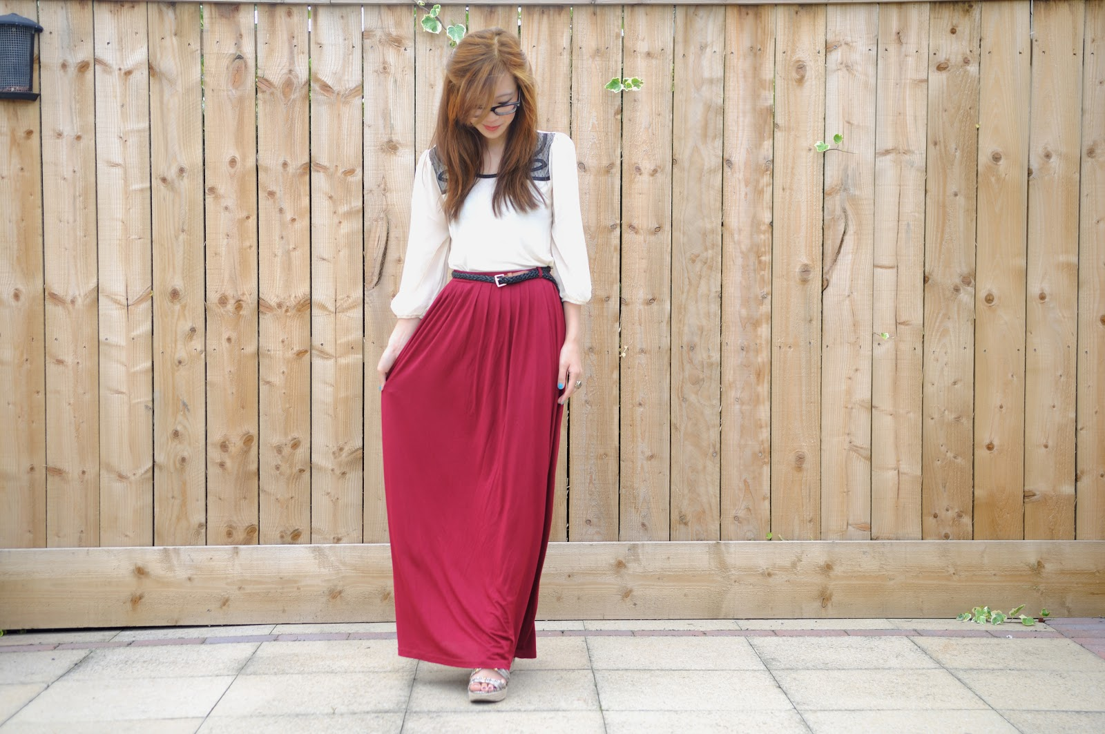 How To Style: Red Maxi Skirt