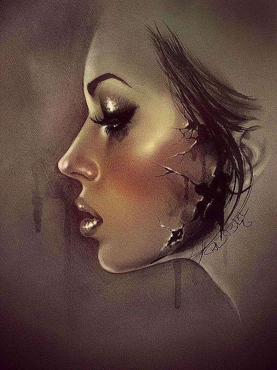 Retrato de un perfil femenino