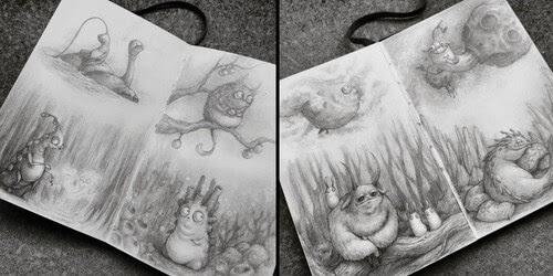 00-Stella-Bialek-Moleskine-Fantasy-Creatures-Drawings-www-designstack-co