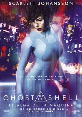 Póster en español de Ghost in the Shell. El alma de la máquina