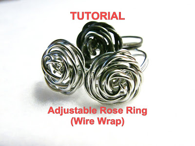 Tutorial for Adjustable Wire Wrap Rose Ring