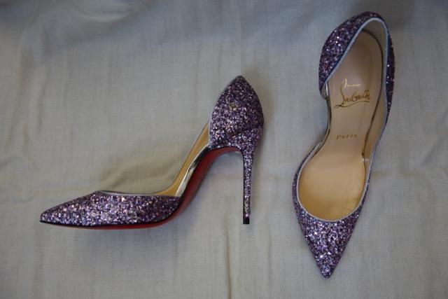 e8b739f7d65 The Shoe Blog: Christian Louboutin Iriza pumps 100mm in glitter