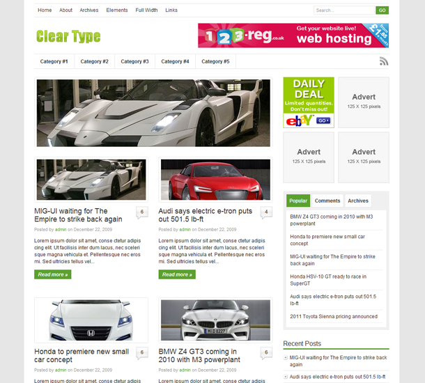 ClearType Wordpress Theme