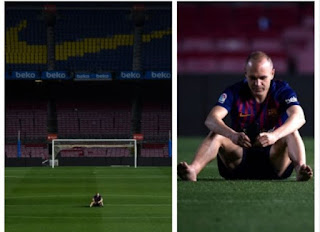 Gantung Sepatu Andres Iniesta Mengambarkan Kecintaannya Yang Mendalam Pada Barcelona