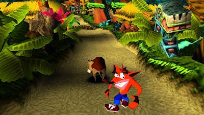 Crash tras una aventura debe montar a un yack para completar su carrarera y pasar de nivel