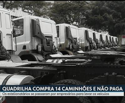 Criminosos compram 14 caminhões e não paga com documento falsos