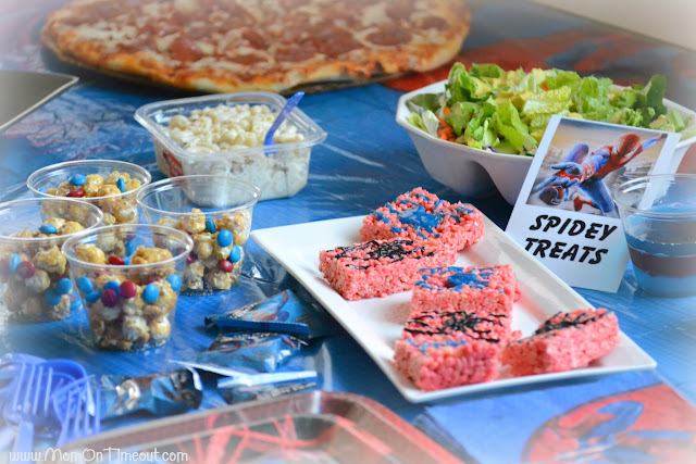 Fabulous Yesterday I surprised the boys with an Amazing Spider Man themed party and movie night My boys are big fans of Spider Man and they were thrilled when I