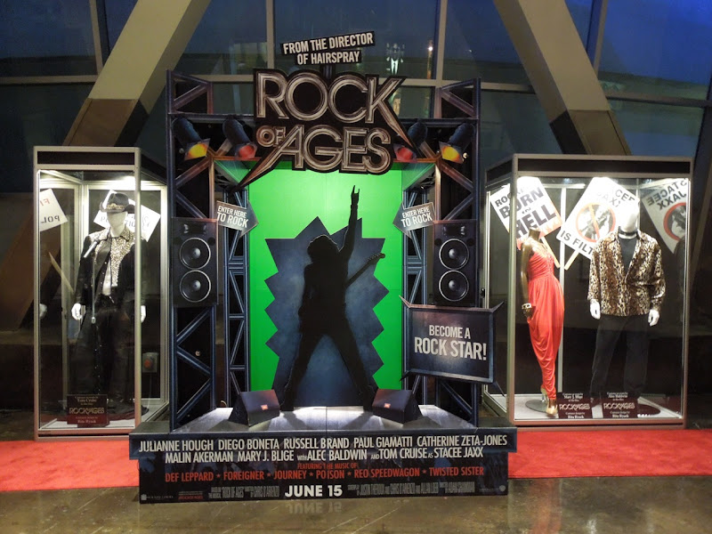 Rock of Ages movie costume display