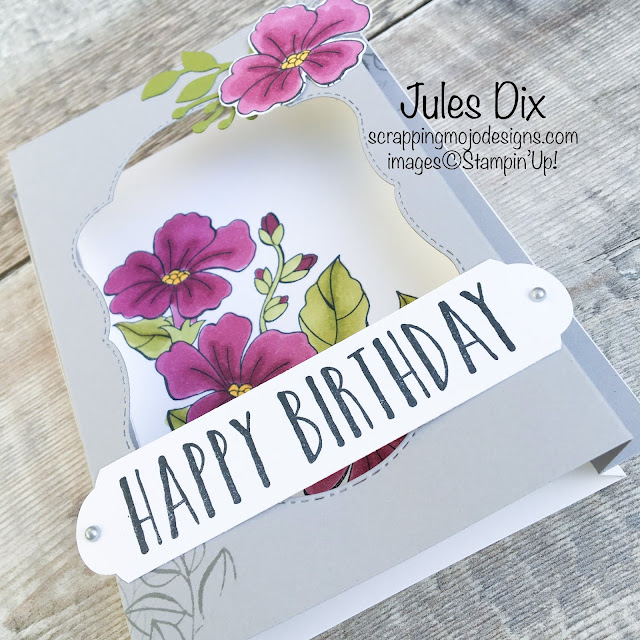 Scrapping Mojo Designs Happy Birthday Box Card Using Colour Your