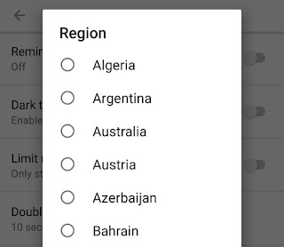 Select country from where you want to see trending videos