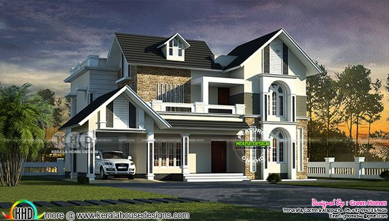 2700 sq-ft 4 bedroom sloping roof home