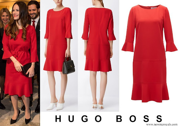 Princess Sofia wore HUGO BOSS Henryke Flounce Dress