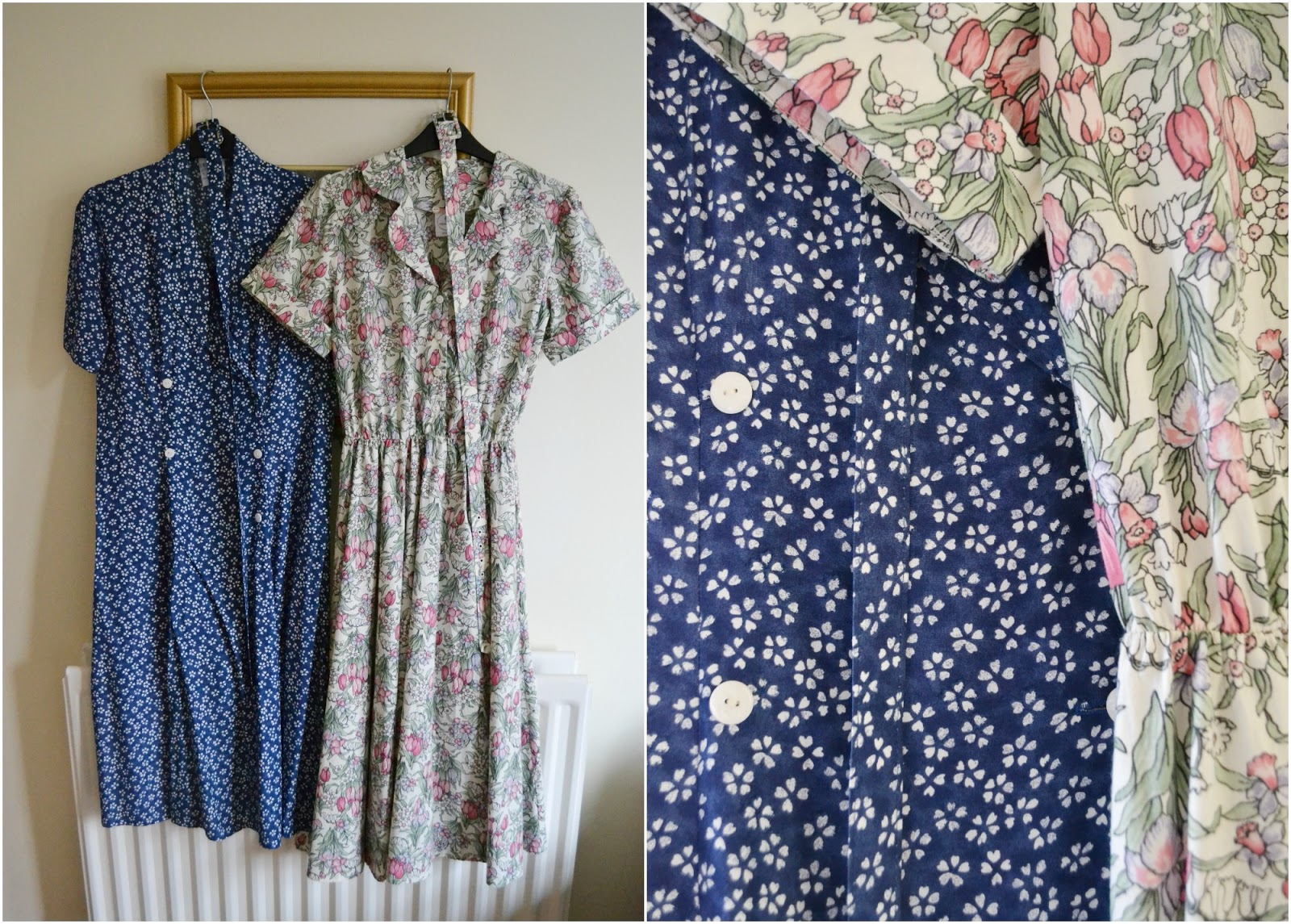 vintage dress floral charity shop