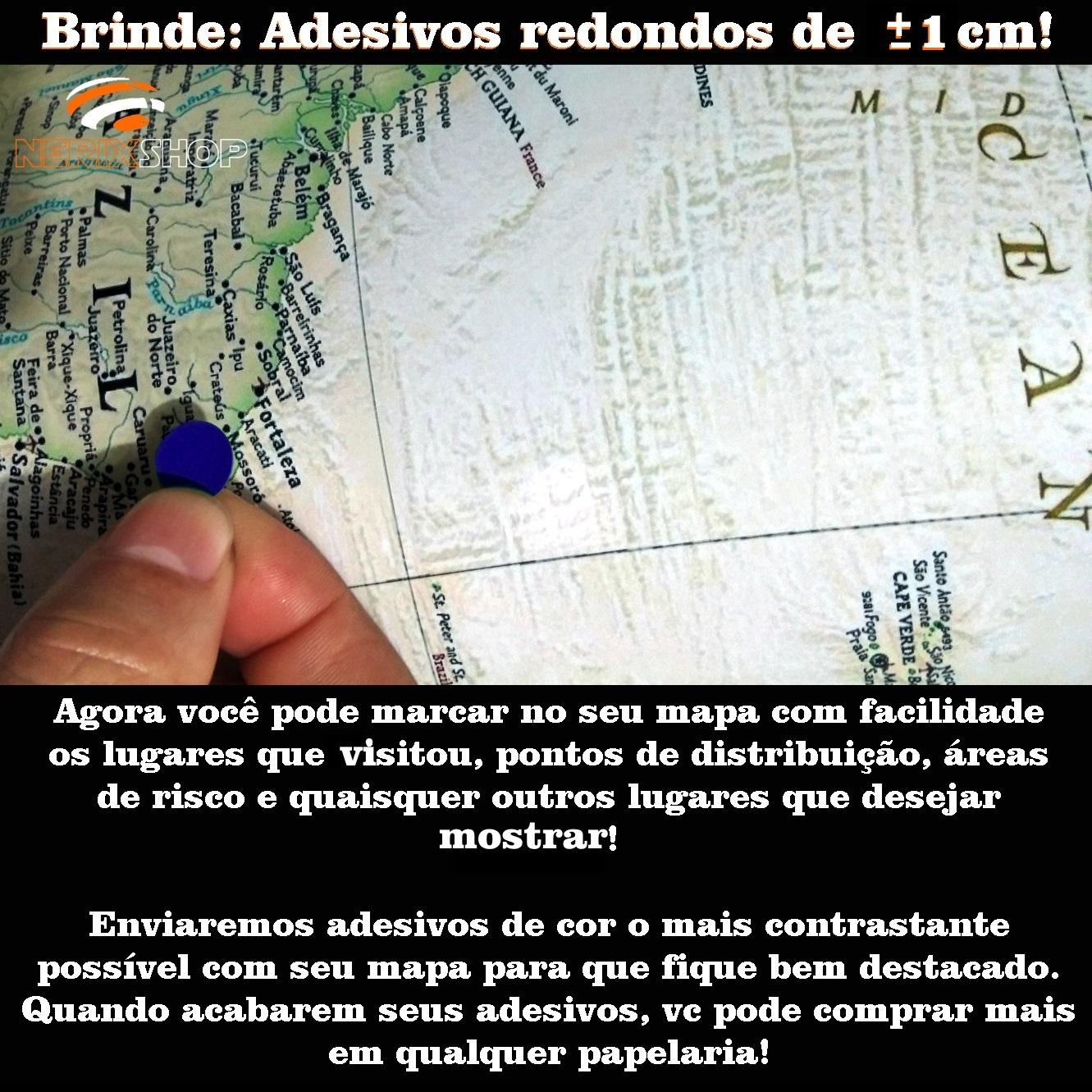 adesivo marcar mapa alfinete