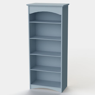 Blue Tall Shelf Unit