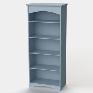 Blue Tall Shelf Unit