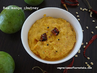 mango chutney or mavinakayi chutney in kannada