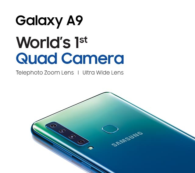 Samsung Galaxy A9 with quad cameras