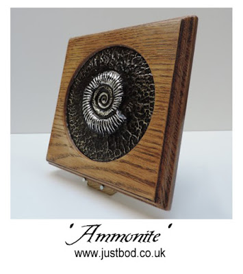 Ammonite sculpted wall plaque from Justbod