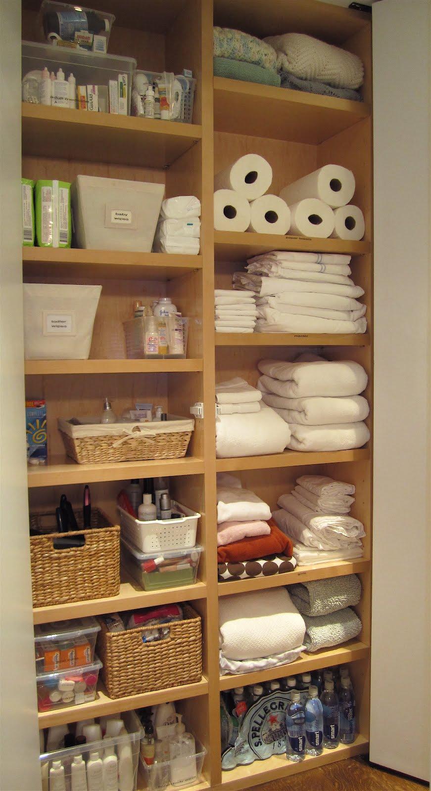 T H E O R D E R O B S E S S E D What I Did Today Organized a Linen Closet