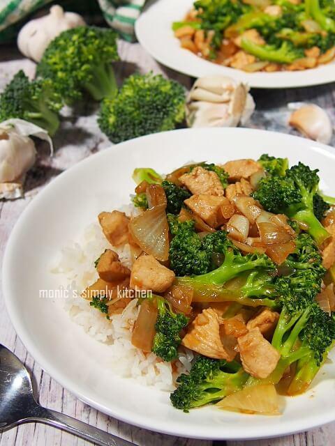 resep tumis cah ayam brokoli
