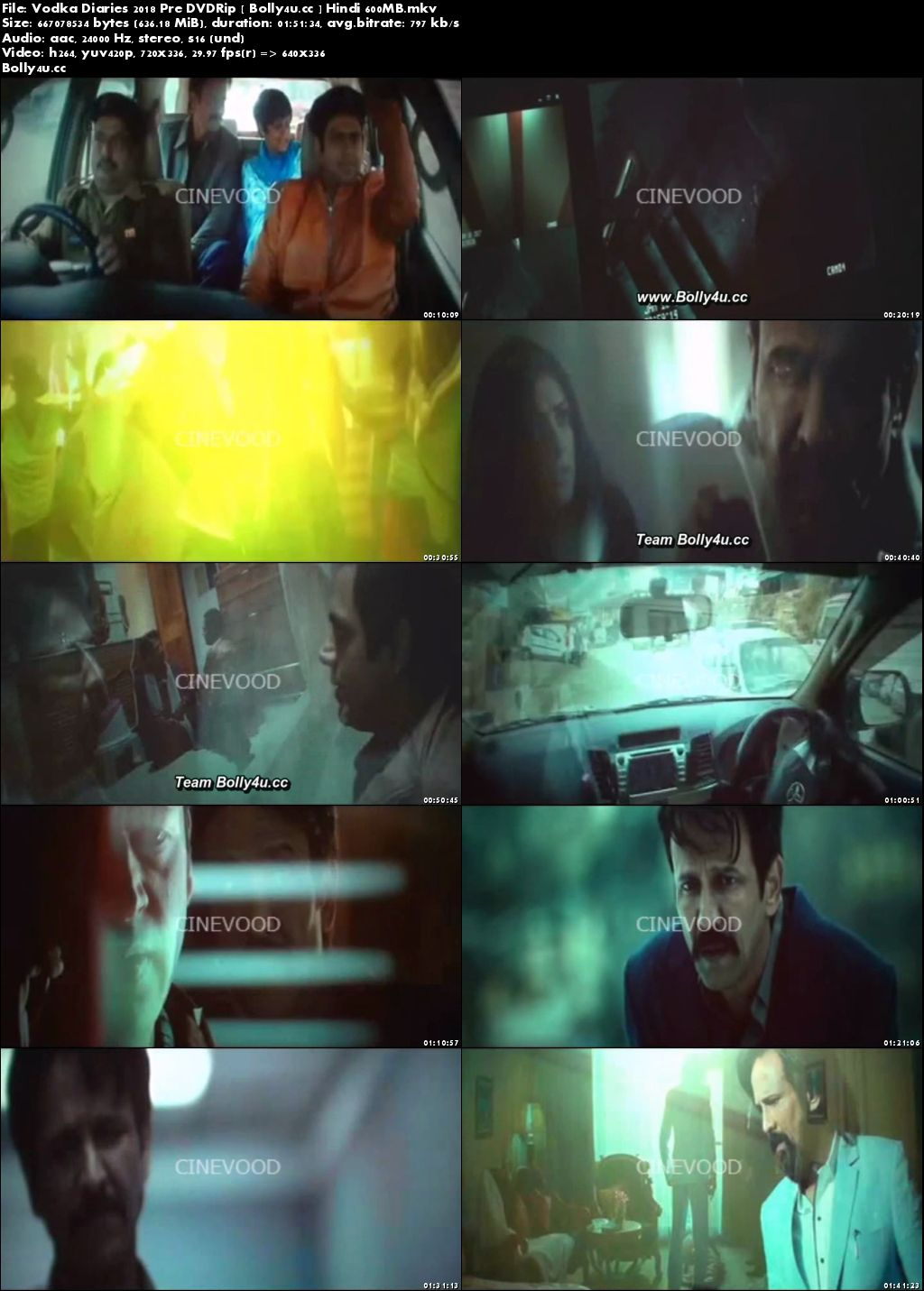 Vodka Diaries 2018 Pre DVDRip 350Mb Full Hindi Movie Download 480p