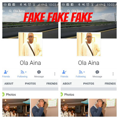 PRIMMY'S CORNER: COULD IT BE THE ALLEGED FAKE FACEBOOK ACCOUNT USER THAT IS THE SCAMMER?