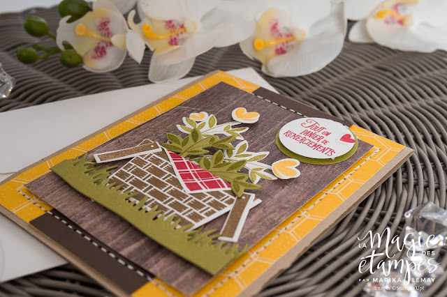 Carte Stampin'Up créée avec le jeu d'étampes Pique-nique avec toi