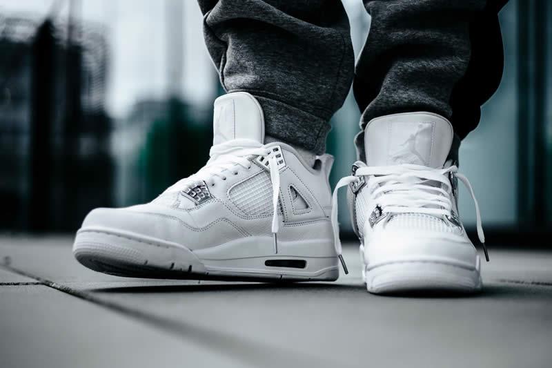 new product 38d63 1a61b AnpKick Brand Street Footwear: Air Jordan 4 All White/Silver ...