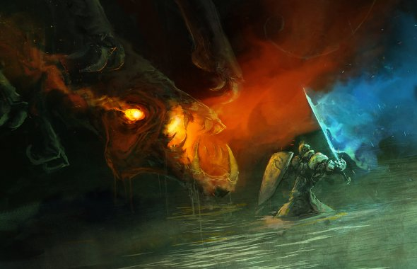 Aaron Nakahara cobaltplasma deviantart ilustrações pinturas digitais fantasia ficção sombria anjos demônios espectros