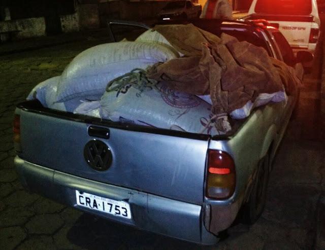 PM prende ladrão e recupera sacas de cafés furtadas em Andradas,MG