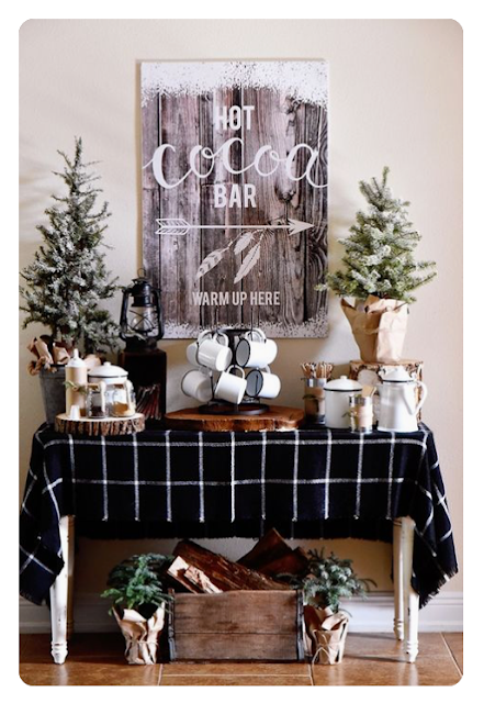holiday entertaining hot cocoa hot chocolate bar
