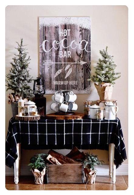 holiday entertaining hot cocoa hot chocolate bar
