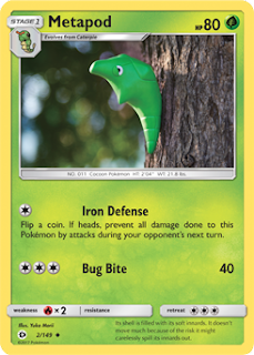 Metapod Sun and Moon Pokemon Card