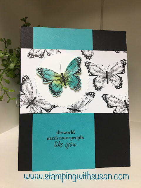 Stampin' Up!, www.stampingwithsusan.com, Botanical Butterflies, Stampin Blends