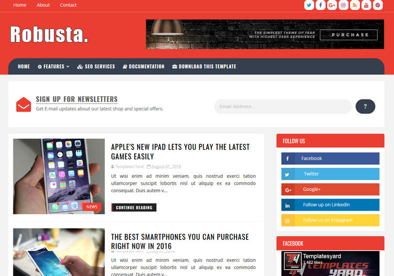 Robusta Blogger Template | Blogger Templates Gallery
