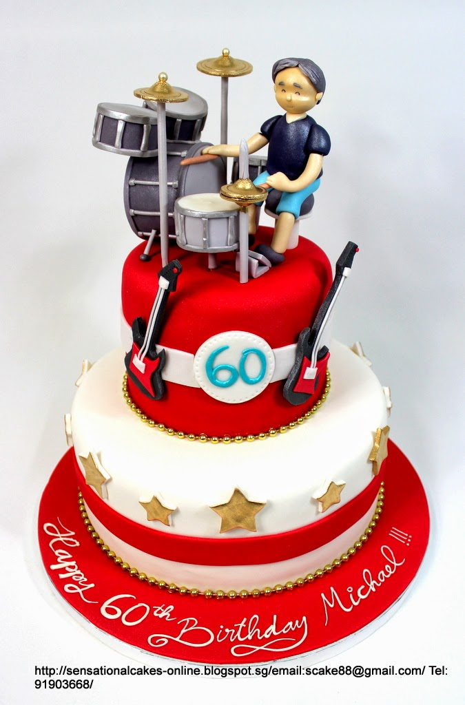The Sensational Cakes Drum Set 60th Birthday Cake