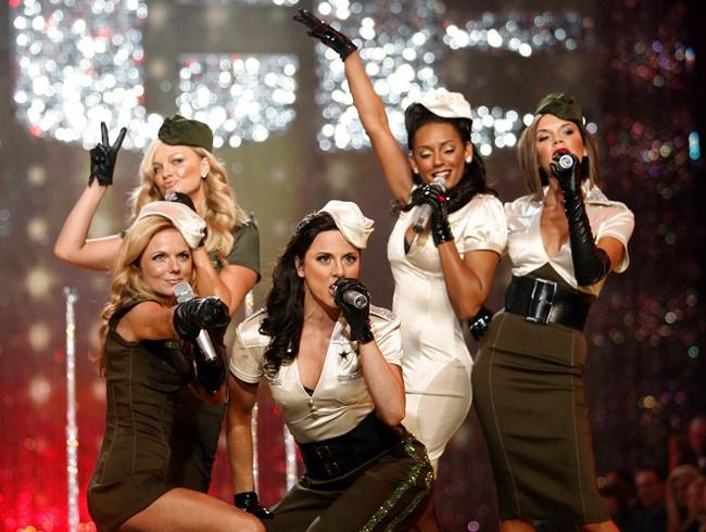 O quinteto britânico Spice Girls