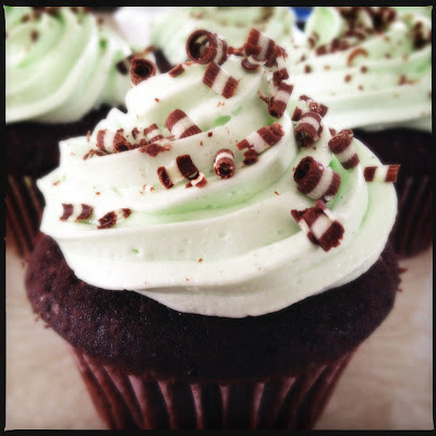 Devil's Food Cupcakes with Mint Buttercream | Pook's Pantry
