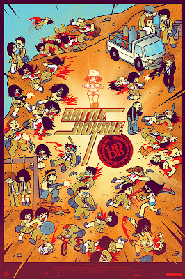 Battle Royale Screen Print by Bryan Lee O'Malley & Kevin Tong