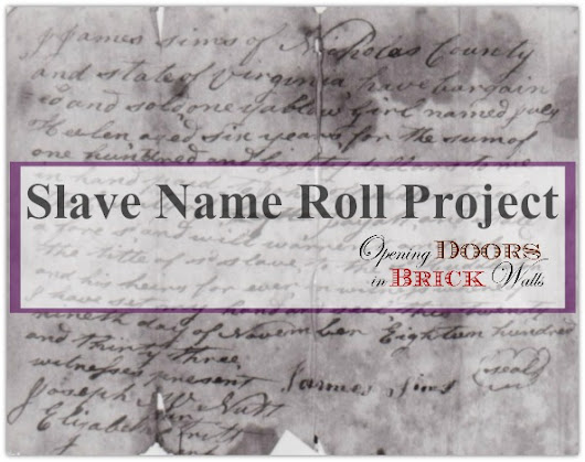 The Slave Name Roll Project