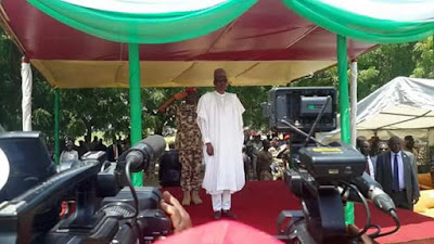 Independence Day: President Buhari arrives Maiduguri (photos)