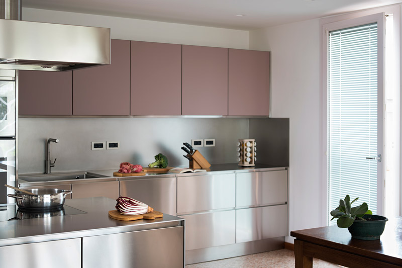 pensili cucina rosa cipria