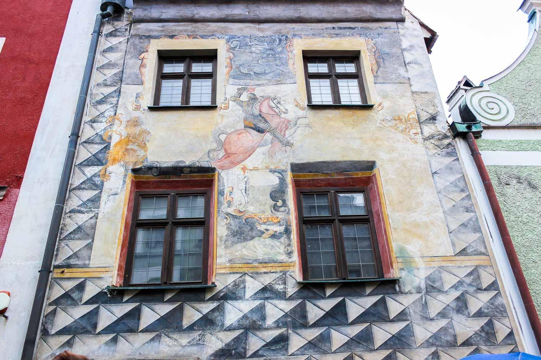 Cesky Krumlov Painted Walls Rozenberg Horse House