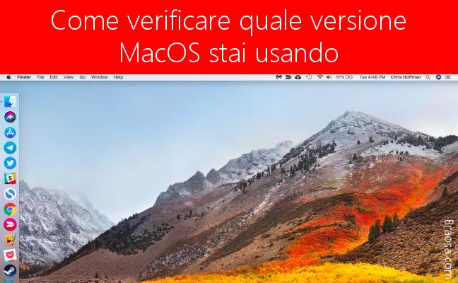 Come sapere quale versione MacOs stiamo utilizzando