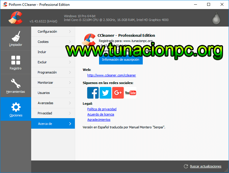 Descargar CCleaner Final Optimiza PC Gratis