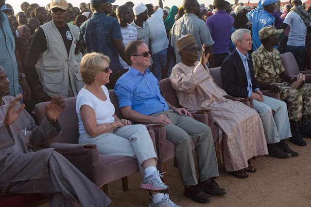 Chargé David Young recently visited a theatrical performance by the Borno State Council for Arts and Culture