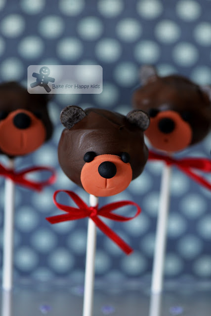 teddy bear devil food chocolate cake pops