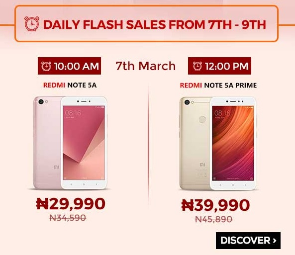 Xiaomi to launch Redmi 5, Note 5A, 5A Prime, and 5 Plus in Nigeria exclusively on Jumia