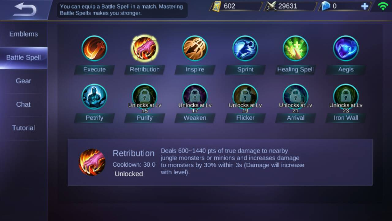 Everything: Build heroes Sun Mobile legends, Full Jungle Attack Damage